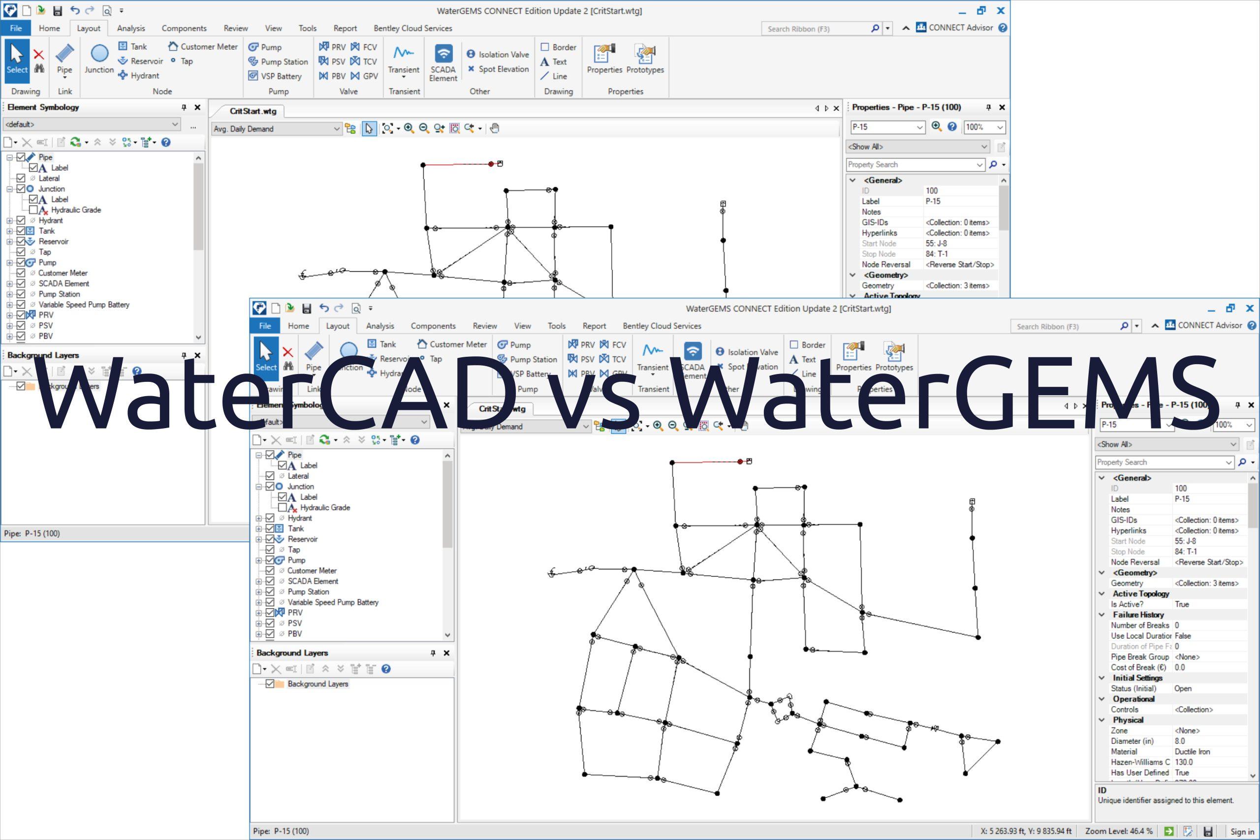 WaterCAD vs WaterGEMS ?